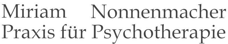 Psychotherapie Miriam Nonnenmacher